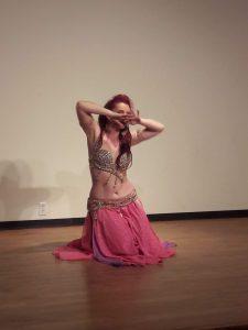 Amanda performing,  August 2019